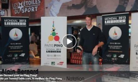 Alain Bernard joue au Ping Pong