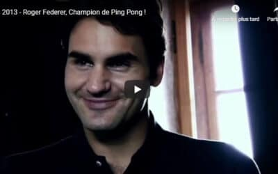 Roger Federer, Champion de Ping Pong