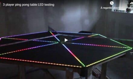 Des tables de Ping Pong futuristes très fun qui s'allument au son de la balle