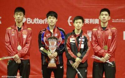 JANG Woojin (Coréen) et GU Yuting (Chinois), Champions du Monde Juniors