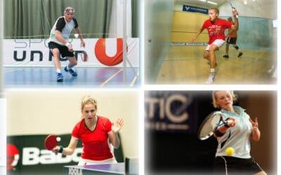 Racketlon : tennis de table, badminton, squash, tennis