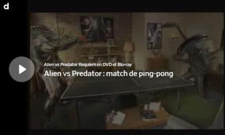 Alien joue contre Predator au Ping Pong