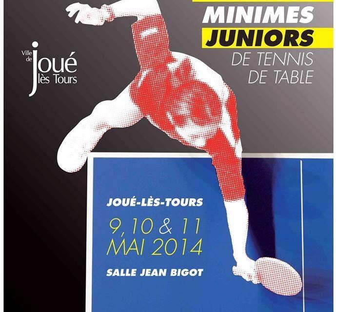 Résultats des Championnats de France de Tennis de Table Minimes / Juniors 2014