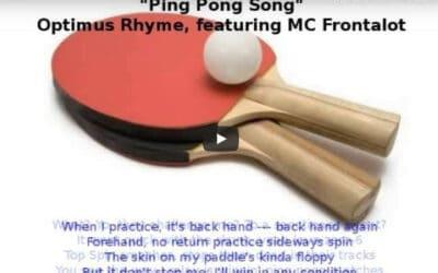 Ping Pong Rap avec Optimus Rhyme – Ping Pong Song (with Lyrics)