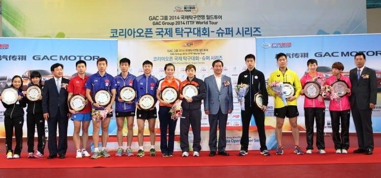 Réslutats et vidéos de l'Open de Corée