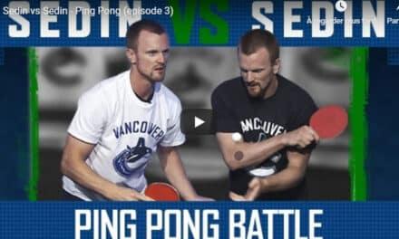 Sedin Vs Sedin – les deux joueurs professionnels de Hockey s'affrontent au Ping Pong