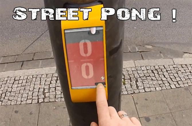 Street Pong, une idée originale