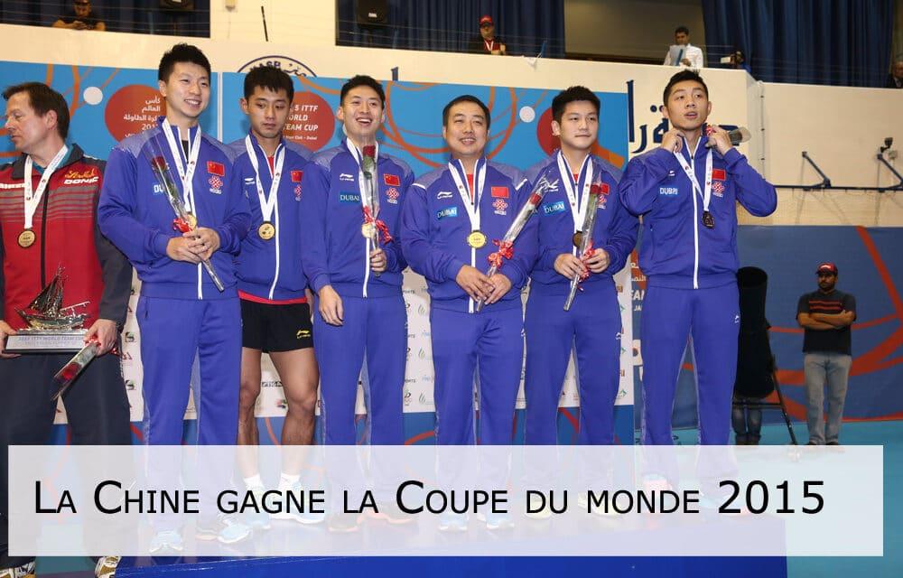 Le doublé de la Chine à la Coupe du Monde 2015 de tennis de table