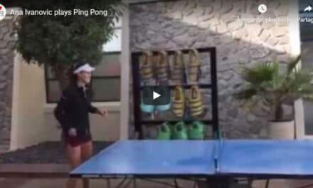 Ana Ivanovic plays Ping Pong