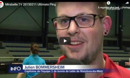 Reportage sur l'Ultimate Ping de Mirabelle TV