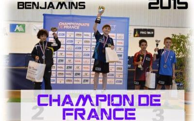 Résultats des Championnats de France Benjamins et Cadets 2015