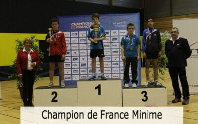 Résultats des Championnats de France Minimes Juniors 2015
