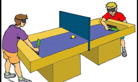 Le Showdown – FUN – le tennis de table dans le noir complet!