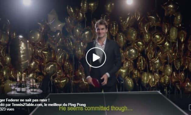 Roger Federer, Champion de Ping-Pong !