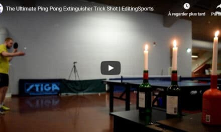 The Ultimate Ping Pong Extinguisher Trick Shot   EditingSports