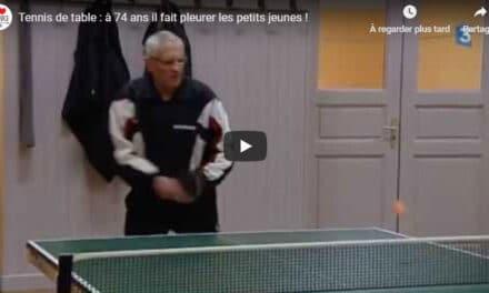 82 ans et champion de France de tennis de table