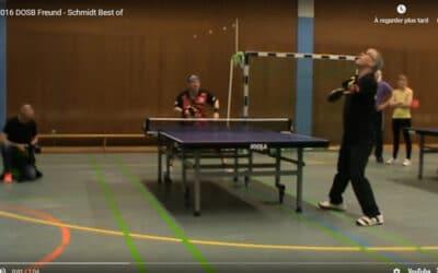 Vidéo de tennis de table en sport adapté