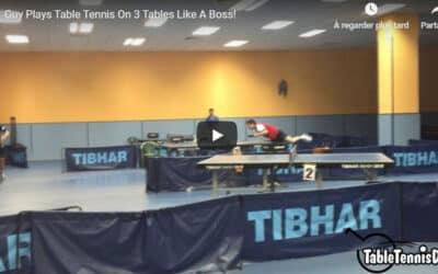 Jouer sur 3 tables de Ping Pong en même temps