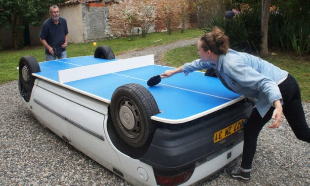Transforme ta voiture en table de Ping Pong