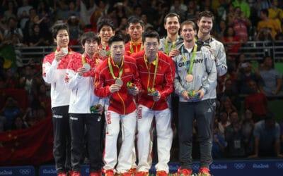 Palmarès des Jeux Olympiques de Rio 2016 au Tennis de Table