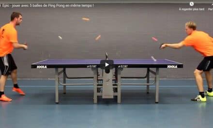 Epic – jouer en même temps avec 6 balles de tennis de table