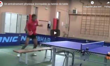 Un entraînement physique incroyable au tennis de table