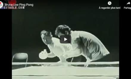 Bruce Lee joue au Ping Pong !