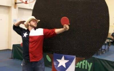 Record de la plus grande raquette de Ping-Pong