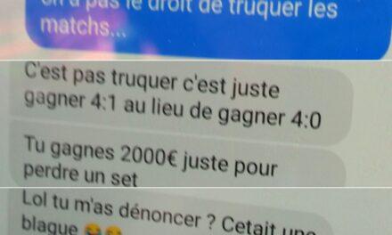 2000 € pour perdre un set !