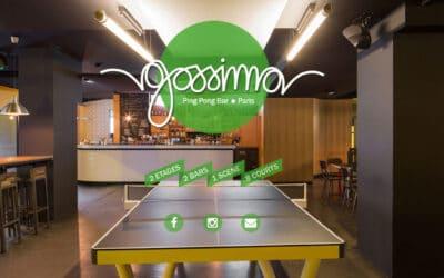 Bar et Ping Pong, le concept très tendance! Gossima, le bar Ping Pong de Paris