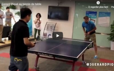 Gérard Piqué joue au Ping Pong ⚽