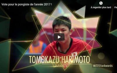 Les Pongistes de l'année 2017 – ITTF Stars Awards