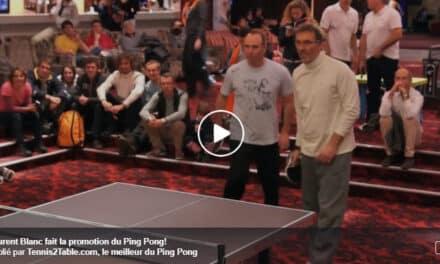 Laurent Blanc joue au Ping Pong !