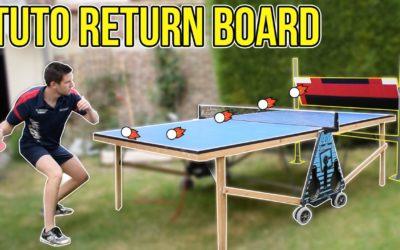 Le Return Board, pour jouer seul au tennis de table