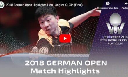 Résultats de l'Open d'Allemagne 2018 de tennis de table