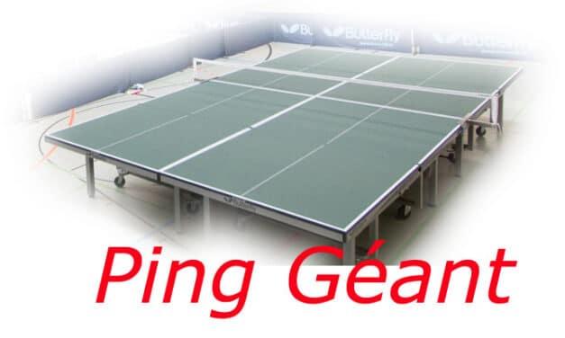 Le Ping Géant ou Ultimate Ping – sur 4 tables !