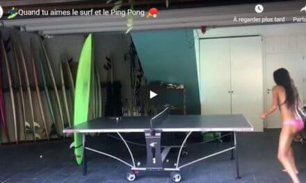 Quand tu aimes le surf et le Ping Pong