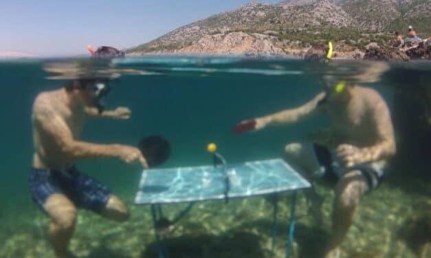 Un Ping Pong Aquatique ? Sur ou sous l'eau c'est très FUN