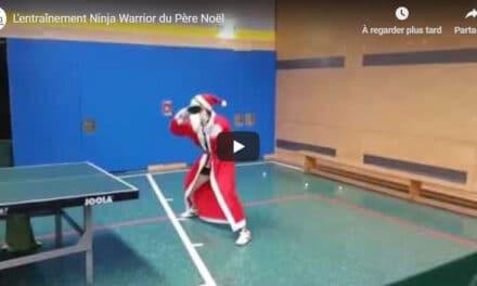 L'entraînement Ninja Warrior du Père Noël