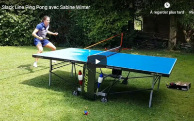 Slack Line Ping-Pong avec Sabine Winter