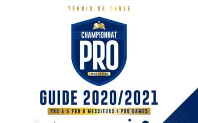 Le guide 2020-2021 du Championnat PRO de tennis de table
