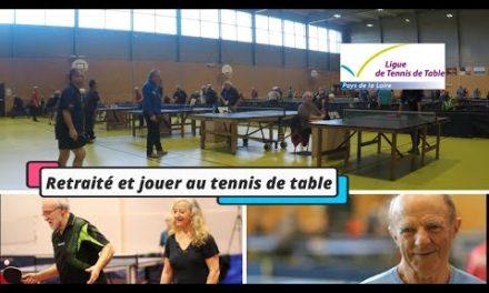Retraité et joueur de tennis de table !