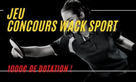 Les 40 ans de Wack Sport – jeu concours
