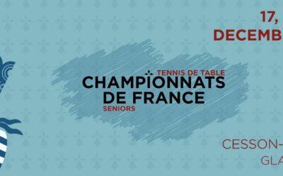 Report des Championnats de France Seniors 2020-2021 de tennis de table