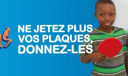 urne pour l'opération « Des Plaques Pour Tous » – Ping sans frontières