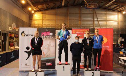 Résultats des Championnats de France Juniors féminins 2020 de tennis de table