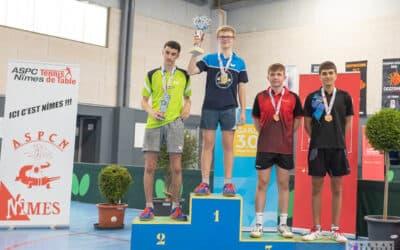 Résultats des Championnats de France BENJAMINS et Cadets 2020 de tennis de table