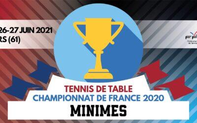 Championnats de France MINIMES 2020 de tennis de table