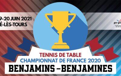 Championnats de France BENJAMINS 2020 de tennis de table