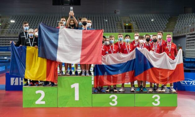 3 médailles d'Or pour Félix LEBRUN aux Championnats d'Europe Cadets 2021 de tennis de table